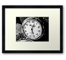 Time goes by..... Framed Print
