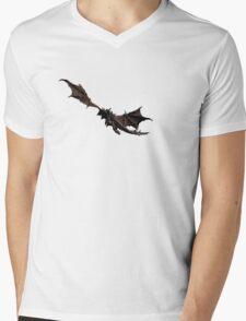 Dragon flying away Mens V-Neck T-Shirt