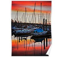 Swantown Sunset Poster