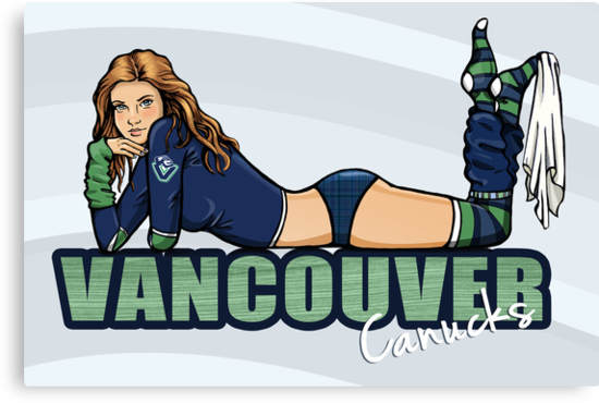 Vancouver Canucks Chickybabe by Sarah  Mac