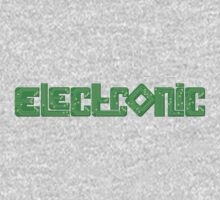 Electronic green PCB style One Piece - Long Sleeve