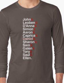 Cylon Jetset (white) Long Sleeve T-Shirt