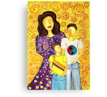 Mother's Pride ~ beautiful boys Canvas Print
