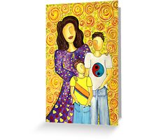 Mother's Pride ~ beautiful boys Greeting Card