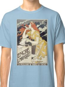 Vintage woman with harp and quill Classic T-Shirt