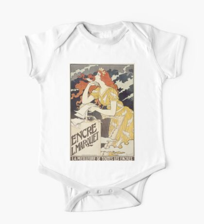 Vintage woman with harp and quill One Piece - Short Sleeve
