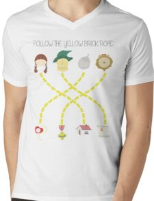 Follow the yellow brick road Mens V-Neck T-Shirt