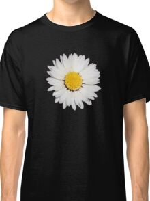 Nine Common Daisies Isolated on A Black Background Classic T-Shirt