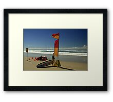 A Perfect Day At The Beach Framed Print