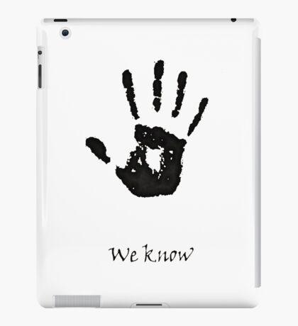 Dark Brotherhood Knows.. You've been Bad! iPad Case/Skin