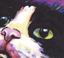 Tuxedo Cat Bright colorful pop kitty art Sticker