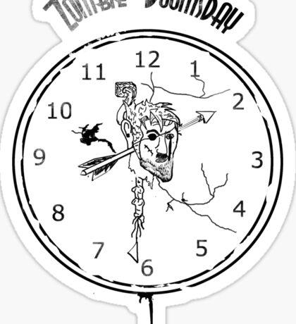 Zombie Doomsday Clock Sticker