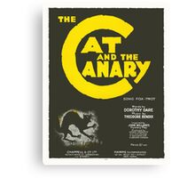 THE CAT AND THE CANARY (vintage illustration) Canvas Print