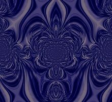 Blue pattern I phone 4 by Margherita Bientinesi