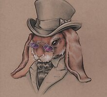 A Sharp Dressed Bunny by justteejay