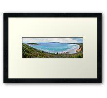 Mutton Bird Beach Panorama Framed Print