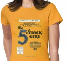 THE 5 OCLOCK GIRL (vintage illustration) Womens Fitted T-Shirt