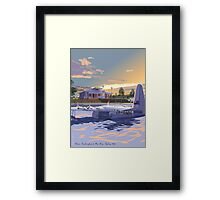 Rose Bay, Sydney and Flying Boat Framed Print