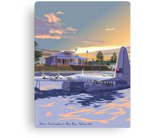 Rose Bay, Sydney and Flying Boat Canvas Print