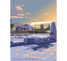 Rose Bay, Sydney and Flying Boat Photographic Print