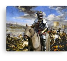 Staffordshire Bull Terrier Art - Call of the King final battle Canvas Print