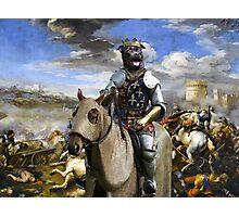 Staffordshire Bull Terrier Art - Call of the King final battle Photographic Print