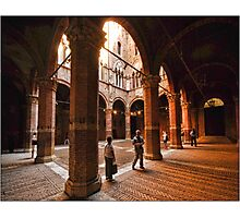 Siena - Pienza Palace Photographic Print