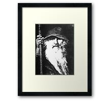 Scandinavian Mythology the Ancient God Odin Framed Print