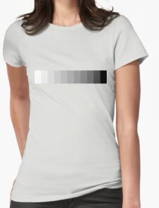 Greyscale Womens Fitted T-Shirt