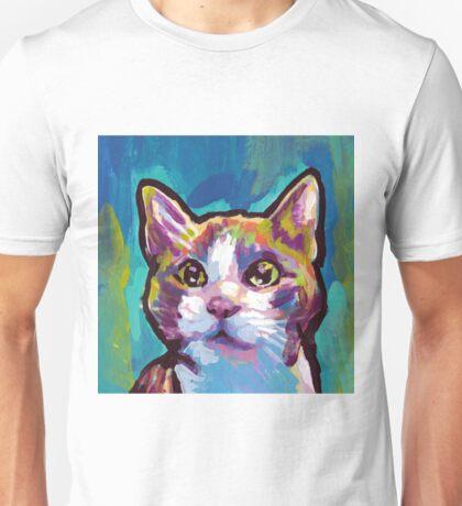 Kitty Cat Bright colorful pop kitty art Unisex T-Shirt