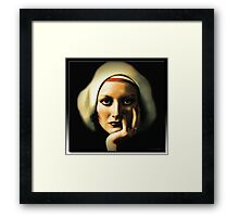I Can See Through You - Joan Crawford in Oil Framed Print