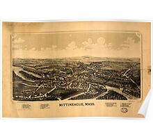 Panoramic Maps Mittineague Mass Poster