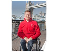David Weir Elite Wheelchair Athlete Poster