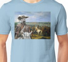 Soft coated Wheaten Terrier Art - Crossing of the Rhine army of Louis XIV Unisex T-Shirt