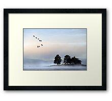morning mist at dulverton lake Framed Print