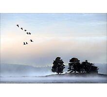 morning mist at dulverton lake Photographic Print