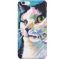 Tuxedo Cat Bright colorful pop kitty art iPhone Case/Skin