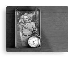 My Dad and his Father's Watch Metal Print