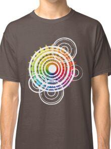Raindrops Rippling On The Colour Wheel Classic T-Shirt