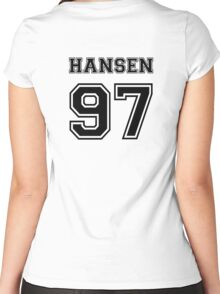 Hansen 97 black Women's Fitted Scoop T-Shirt