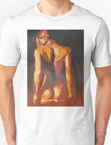 Beautiful Young Woman Wearing Plaits and Panties (Neutral) Unisex T-Shirt