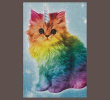 Unicorn Rainbow Cat Kitten Funny Baby Tee
