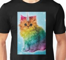 Unicorn Rainbow Cat Kitten Funny Unisex T-Shirt
