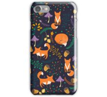 Foxes in magic forest iPhone Case/Skin