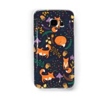 Foxes in magic forest Samsung Galaxy Case/Skin