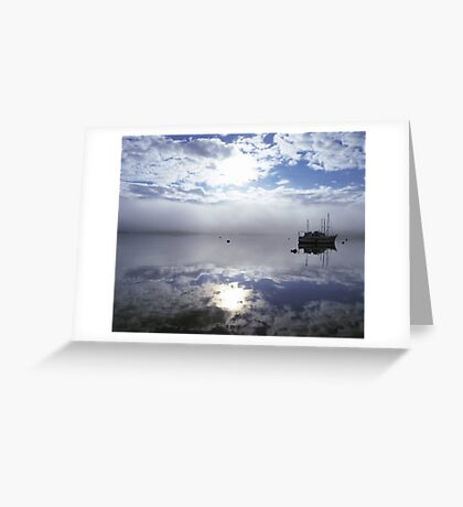 Lone boat Tobermory Greeting Card