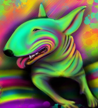 English Bull Terrier Colour Splash  Sticker