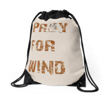 Kitesurfers Pray for Wind Drawstring Bag
