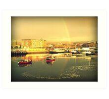 River Lagan Rainbow, Belfast Art Print