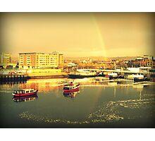 River Lagan Rainbow, Belfast Photographic Print